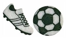 Soccer Felt Stickers Lot 22 Pieces Ball Cleats Shoes Spikes Felties Sports Craft