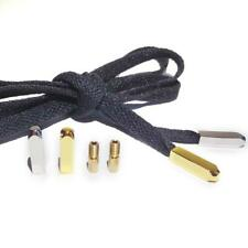4pcs Silver/Gold Rectangular Metal Aglets ShoeLaces Tips Screw On Replacement