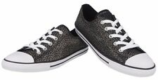 Converse Womens Canvas Black/Gold Studs Trainers Sport Shoes Sneakers All Sizes~