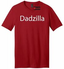 Dadzilla Mens V-Neck T Shirt Fathers Day Valentines Day Gift Tee Dad Father Gift