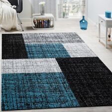 Large Rug Traditional Stylish Rectangle High Quality Carpet in Black Grey Blue
