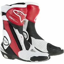 Alpinestars SMX Plus Vented Motorcycle Boots Black/Red/White