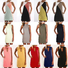 Womens Summer Casual Sleeveless Short Mini Dress Beach Party Evening Sundress