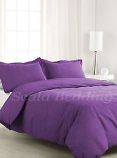1000TC 100% Egyptian Cotton Fresh Bedding Sets Purple Solid All US Size