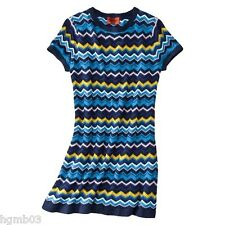 MISSONI FOR TARGET SWEATER DRESS VIA BLUE S SMALL, L LARGE - NEW