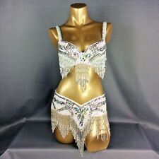 D &DD CUP C1618 Belly Dance Costume Outfit Set Bra Belt Carnival Bollywood 2 PCS
