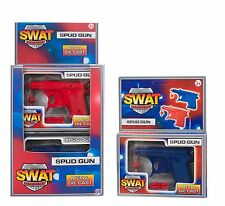 Swat Academy Die Cast Metal Potato/ Spud Gun with Pellets Red or Blue Toy 3+