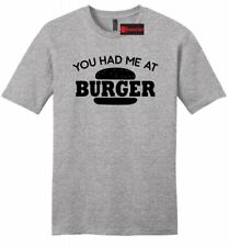Had Me At Burger Funny Mens Soft T Shirt Food Lover Meat Valentines Day Tee Z2