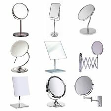 Bathroom Mirror Various Make Up Swivel Flexible Pedestal Tabletop Wall Chrome