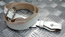 Genuine Vintage Military White Cross Over Sam Browne Strap Leather - NEW