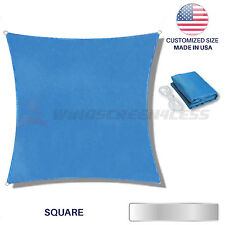 Custom Blue Square Sun Shade Sail Canopy Awning  Patio Pool Cover Outdoor UV