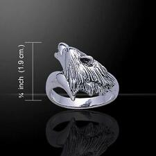 Snarling Wolf Sterling Silver Ring  - Symbol of Cunning, Communication, Loyalty