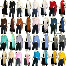 Any 1,2,3 Solid 100%Pashmina/Cashmere Classic SHAWL Scarf Stole WRAP Silky New