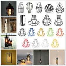 Metal Guard Industrial Pendant Light Bulb Cage Ceiling Hanging Lampshade PICK