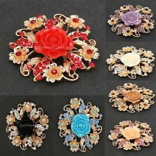 Fashion Bridal Bouquet Jewelry Flower Brooch Crystal Pin for Women Wedding Party