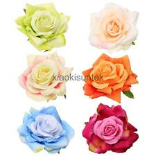 Silk Fabric Rose Flower Clip Pin Brooch Bridal Wedding Party Prom Corsage Flower