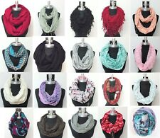 HIGH QUALITY New Women Fashionable Infinity Wrap Cowl Scarf Circle Loop Scarves