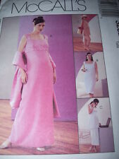 McCALL'S #3252-LADIES MATERNITY EVENING DRESS-TOP-SKIRT & CAPRI'S PATTERN 6-20FF