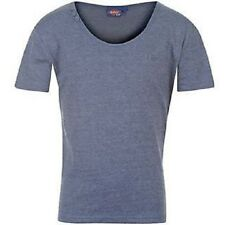 BOYS LEE COOPER SCOOP NECK BLUE MARL T-SHIRT AGE 11-12 AND 12-13 YEAR BNWT