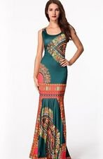 African Fashion Floral Print Dress, Delivery In About 6 Days