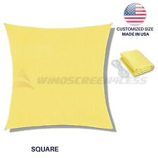 Canary Yellow Square Rectangle Sun Shade Sail Canopy Awning Patio Pool  UV Cover