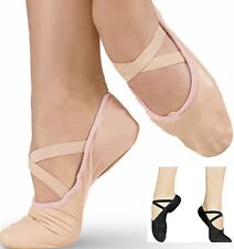 Ballet Dance Shoes Full Sole Shoes With Attached Crossed Elastics