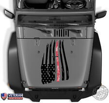 Digi Camo American Flag Thin Line Distressed Hood Decal Jeep Dodge Ford Chevy