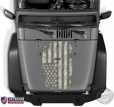 Distressed Digi Camo American Flag Hood Vinyl Decal fits: Jeep Dodge Ford Chevy