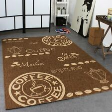 Kitchen Rug Chocolate Brown Beige Coffee Design Carpet Small Large New EASY CARE