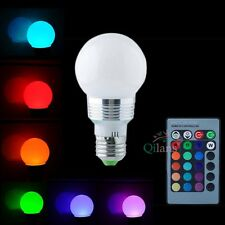 5W E27 RGB LED Light Color Changing Lamp Bulb 220V With Wireless Remote Control