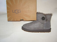 UGG Australia Mini Bailey Button  Boots Grey Women's Size 5-9 NEW