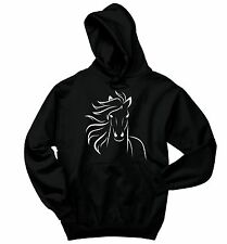 Horse Sweatshirt Horse Outline Equestrian Horse Lover Gift Hoodie