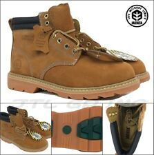 New Jacata Tan Wheat Steel Toe Work Boot Shoes Water Resistant Leather