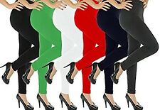 6 Pack of Solid Color Full Length Tights