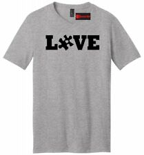 Love Autism Mens V-Neck T Shirt Autism Awareness Autistic Child Dad Brother Tee