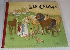 LES CHEVAUX, HACHETTE RAG CLOTH BOOK, c1910-1920, FRENCH VERSION DEAN'S RAG BOOK