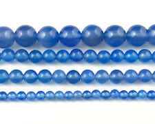 natural blue agate stone beads round semi precious beads wholesale 4,6,8,10,12mm