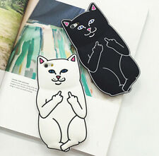 Middle Finger Cat Silicon Cover Case For iPhone 6/6S Plus 7 plus Christmas Gift