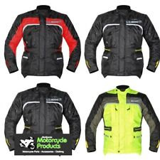 GMAC MOTORCYCLE JACKET + TROUSERS FREE GLOVES WATERPROOF QUALITY RIDING GEAR