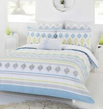 New Dwell Pavana Queen Size Quilt / Doona Cover Set Cotton 3 or 6 Pce Sets