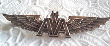 Vintage American Airlines Crew Badge AA Wings Pin Silver Filled