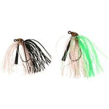 Fishing Lures Baits Spin Swim Bass Silicone Beard Jigs Carbon Steel Hook