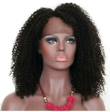 Brazilian Virgin Human Hair Wig Kinky Curly Lace Front Wig /Full Lace Wigs  Blac