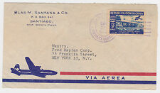 1952 DOMINICAN REPUBLIC  AIR MAIL COVER TO USA