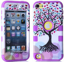 Shockproof Hybrid Rugged Rubber Hard Case Cover For Apple iPod Touch 5th 6th Gen