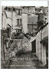 Cornwall Polperro A Quaint Cornish Street Old Photo Print - England