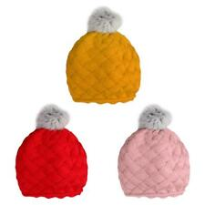 Lovely Baby Kids Girls Knitting Beret Beanie Hat Crochect Pom Pom Beanie Cap