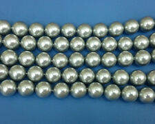 Natural Silver Shell Pearl Beads Shell Gemstone Bead Round Bead 8mm 10mm 12mm