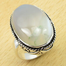 BOTSWANA AGATE Exclusive Gemset ! 925 Silver Overlay RETRO STYLE Ring Size UK O