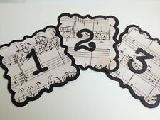 Music Wedding Venue Decorations Table Numbers Bride & Groom Signs Bunting